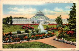 Minnesota St Paul Como Park Conservatory 1946 Curteich - St Paul