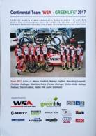 Teamcard - WSA-Greenlife - 2017 (21 X 15 Cm) - Cycling