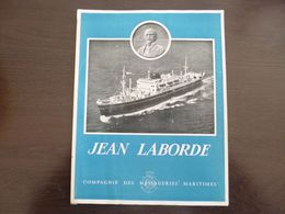Compagnie Des Messageries Maritimes. Jean Laborde. Dépliant. Vues De L'intérieur Du Bateau. - Boten