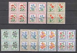 Andorra -Franc 1964 - Flores Ed T46-52 Bloque - Unused Stamps
