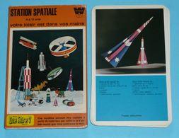 Vintage 1970 Rare Pochette QUE FAIRE Whitman Fiches Illustrées Station Spatiale - Autres Collections