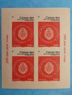 TIMBRE  AUTOADHESIF  No: 1269A , Bicentenaire De La Caisse Des Dépots (1ier Tirage)papier Jaune Foncé XX , En Bon état - Sellos Autoadhesivos