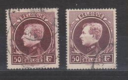 COB 291A Et 291B Oblitéré Dentelé 14 X 14 1/2 Cote 45€ - 1929-1941 Gran Montenez