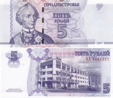 Transnistria - 5 Rubles 2007 AUNC / UNC Lemberg-Zp - Moldavie