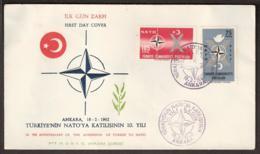 Turkey FDC 1962 NATO - Special - Rare! - Unclassified