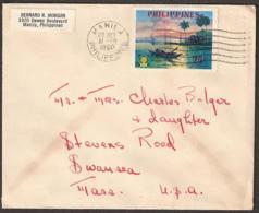 Philippines 1960 Cover . Cachet: 'Manila 25 Oct 11 - PM 1960 Philippines' - Philippines