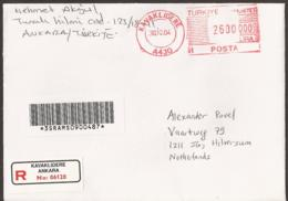 Turkey Letter Registered - KAVAKLIDERE A430 To Netherlands. With Bar Code - Unclassified