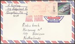 USA - ATM + Normal Stamp -  5 (!)Cachets: Cachet (1) Georgetown March 29 1991.+ Cahcet (2) Airmail (front And Back) + Ca - Machine Stamps (ATM)