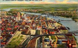 Ohio Cincinnati Aerial VIew Curteich - Cincinnati