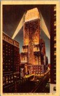 Ohio Cincinnati Fountain Square And Carew Tower At Night 1945 - Cincinnati