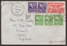 USA 1949 Cover/letter  To England. Envelope 'Furness Bermuda Line' (see Backside)  - Flag, Vlag, Drapeau - Covers