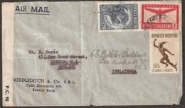 Argentina 1943 Cover/letter To London - Opened By Censor - Argentinien