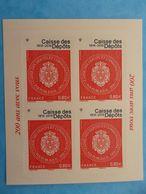 TIMBRE  AUTOADHESIF  No: 1269A , Bicentenaire De La Caisse Des Dépots (2ieme Tirage) Papier Jaune Clair XX , En Bon état - Autoadesivi