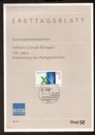 Wilhelm Conrad Röntgen - Ersttagblatt In Umschlag Von Die Röntgen Technische Dienst (The Netherlands) - Physics