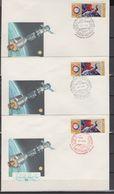 USSR Russia 1975 Space Apollo-Soyuz 5 Commemorative Covers - UdSSR