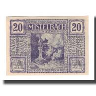 Billet, Autriche, Mistelbach N.Ö. Stadtgemeinde, 20 Heller, Paysage, 1920 - Austria