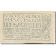 Billet, Autriche, Wels, 30 Heller, Personnage, 1921, TTB, Mehl:FS 1167 - Austria