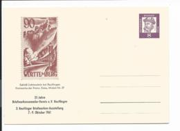 Bund PP 23 D2-01b  - 8 Pf Gutenberg Privat-Ganzsache Reutlingen 25 J. Bfm-Sammlerverein - Ausstellung - Privé Postkaarten - Ongebruikt