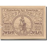 Billet, Autriche, Sipbachzell, 20 Heller, Personnage, 1920 SUP Mehl:FS1000 - Austria