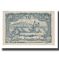 Billet, Autriche, Luftenberg O.Ö. Gemeinde, 10 Heller, Texte 2, 1920 - Austria