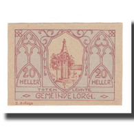 Billet, Autriche, Lorch O.Ö. Gemeinde, 20 Heller, Texte, 1920, 1920-12-31, SUP - Austria