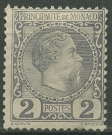 Monaco 1885 Fürst Charles III., 2 Ohne Gummierung, Fehler - Monaco
