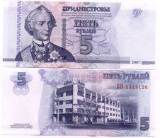 Transnistria - 5 Rubles 2007 ( 2012 ) UNC Lemberg-Zp - Moldavie