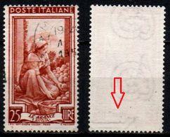 # Italia Al Lavoro Con Filigrana Lettere - 25 Lire Ruota 3° DA - 1946-60: Gebraucht