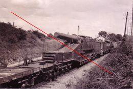 Photo 1939-45 Artillerie Sur Rail  Allemagne - 1939-45