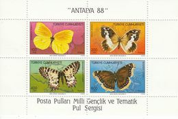 TURKEY Block 26,unused,butterflies - 1921-... Republic