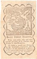 Saint Donat Martyr Eglise De Ste Elisabeth à Mons Holy Card  Santini Image Pieuse Religieuse - Santini