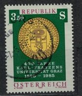1985   Karl Franzens University, Graz, 400th Anniv. -  Yt 1628 - Unificato 1628 - Mi 1799 - 1945-.... 2ème République
