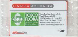 29-Carta Azienda-Tosco Flora-Castellare Di Pescia-Potenza-Nuova In Confezione Originale - Télécartes