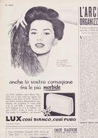 (pagine-pages)PUBBLICITA' LUX(+CYD CHARISSE)  Oggi1955/09. - Libros, Revistas, Cómics