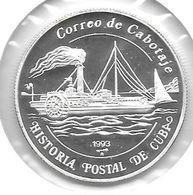 *cuba 5 Pesos 1993 Km 524,3 Proof - Cuba