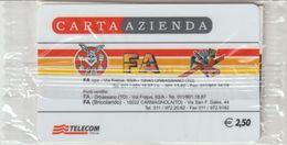 33-Carta Azienda-FA-Orbassano-Carmagnola-Torino-Nuova In Confezione Originale - Télécartes