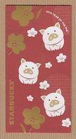 CC Chinese New Year 'STARBUCKS PIG - COCHON' 2/4 YEAR 2019' Red Pocket CNY Chinois - Cartas Perfumadas