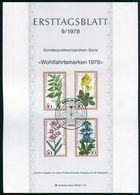 Berlin - 1978 ETB 09/1978 - Mi 573 / 576 - Waldblumen, Wohlfahrtsmarken 78 - FDC: Hojas