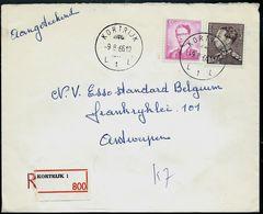 Doc. De  KORTRIJK - L 1 L - Du 09/08/66 En Rec. (E) - Postmark Collection