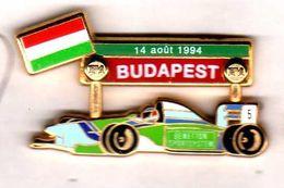 Pin's   F1 Formule 1 Benetton  Budapest Aout 1994 Zamac JFG Miami - F1