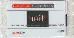 38-Carta Azienda-MIT-Multimedia International Telecommunications-Nuova In Confezione Originale - Télécartes