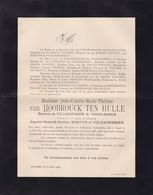 GAND ZOLDER Julie Van HOOBROUCK TEN HULLE Baronne De VILLENFAGNE De VOGELSANCK 1822-1908 MORETUS DESSAIN - Obituary Notices