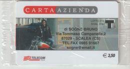 39-Carta Azienda-Di Sogne Bruno-Scalea-Cosenza-Nuova In Confezione Originale - Télécartes