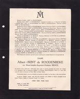 GAND UCCLE BRACQ Marie épouse Albert T'KINT De ROODENBEKE  1881-1933 - Obituary Notices