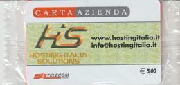 47-Carta Azienda-Hosting Italia Solunons-Nuova In Confezione Originale - Télécartes
