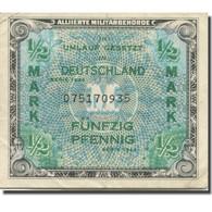 Billet, Allemagne, 1/2 Mark, 1944, KM:191a, TTB+ - [ 5] Ocupación De Los Aliados
