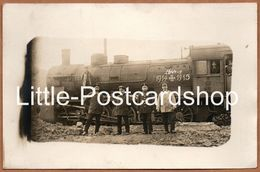 Foto Lokomotive Nr. 5426 Feldzug 1914 Eisernes Kreuz 1915 Mit Bahnpersonal Balkenkreuz - Guerre 1914-18