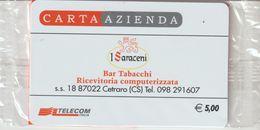 45-Carta Azienda-I Saraceni-Cetraro-Cosenza-Nuova In Confezione Originale - Télécartes