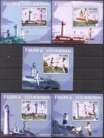A{072} Sao Tome & Principe 2009 Lighthouses Birds 5 S/S Deluxe MNH** - Sao Tome And Principe