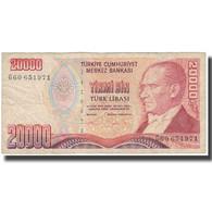 Billet, Turquie, 20,000 Lira, KM:202, B - Turchia